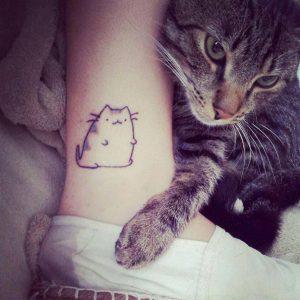 tatuajes de gatos pequeños mascotas felinos 15 300x300