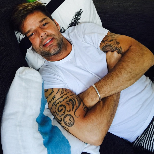 Tattoos of Ricky Martin and their stories