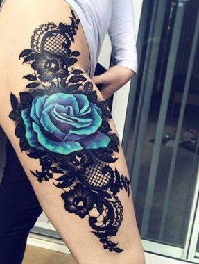 tatuajes-de-rosas-azules-1