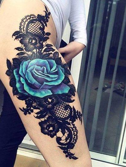 tatuajes de rosas azules 1 e1486137090205 - tatuajes de rosas