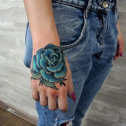 tatuajes de rosas azules 3 - tatuajes de rosas