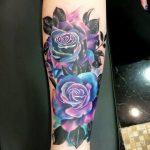 tatuajes de rosas azules 4 150x150