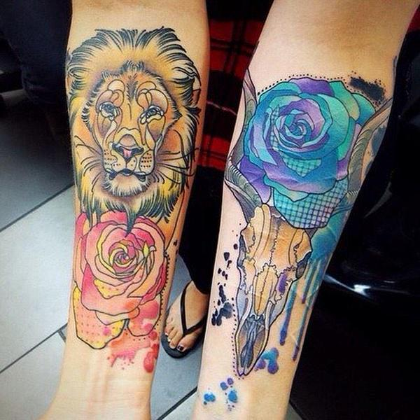 tatuajes de rosas azules 5 - tatuajes de rosas