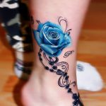 tatuajes de rosas azules 6 150x150