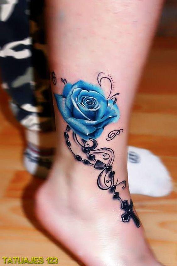 tatuajes de rosas azules 6 - tatuajes de rosas