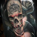 tatuajes de rosas con caravelas 5 150x150