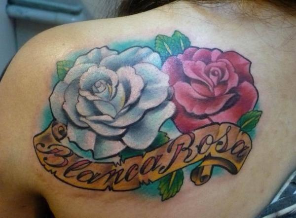 tatuajes de rosas en el hombro 2 - tatuajes de rosas