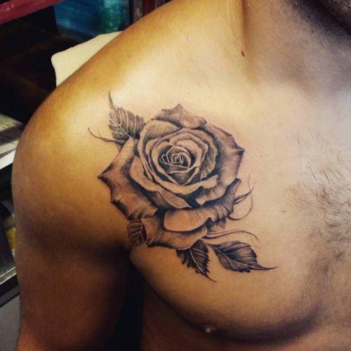 tatuajes de rosas en el hombro 5 - tatuajes de rosas