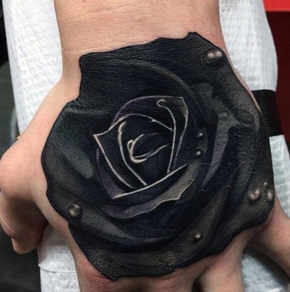tatuajes de rosas negras 1 - tatuajes de rosas