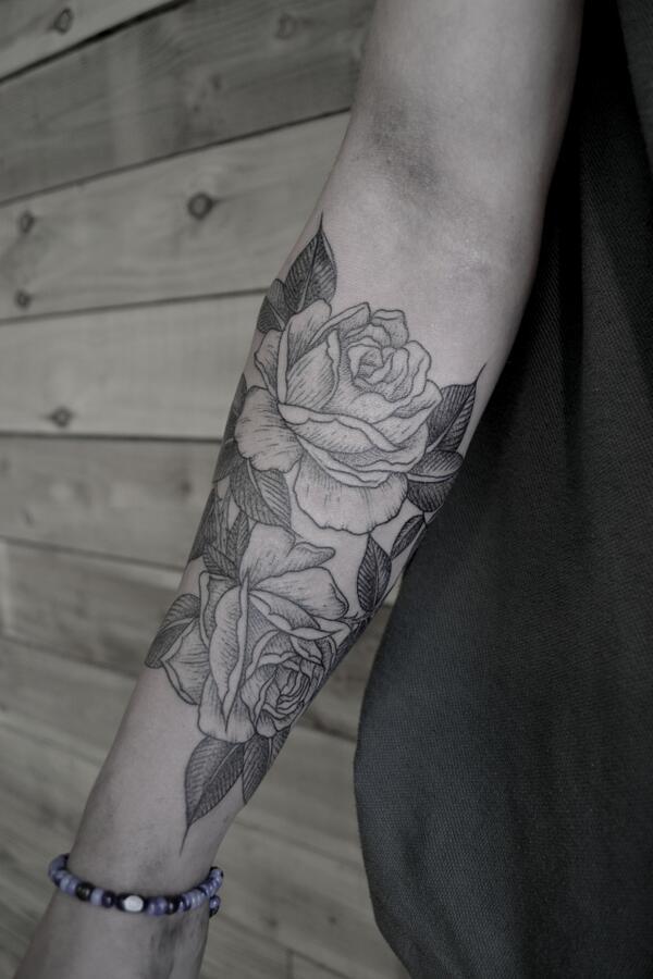 tatuajes de rosas negras 3 - tatuajes de rosas