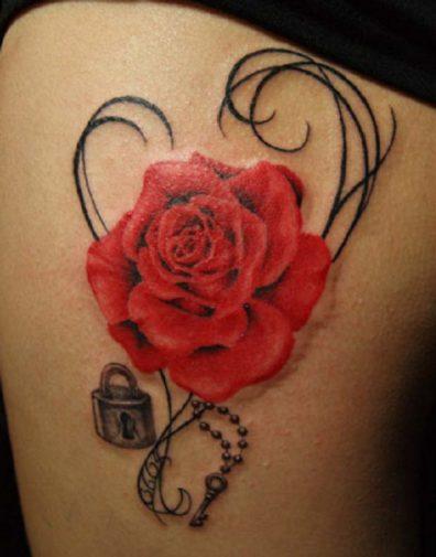los tatuajes de rosas y sus significados tatuajes geniales. Black Bedroom Furniture Sets. Home Design Ideas