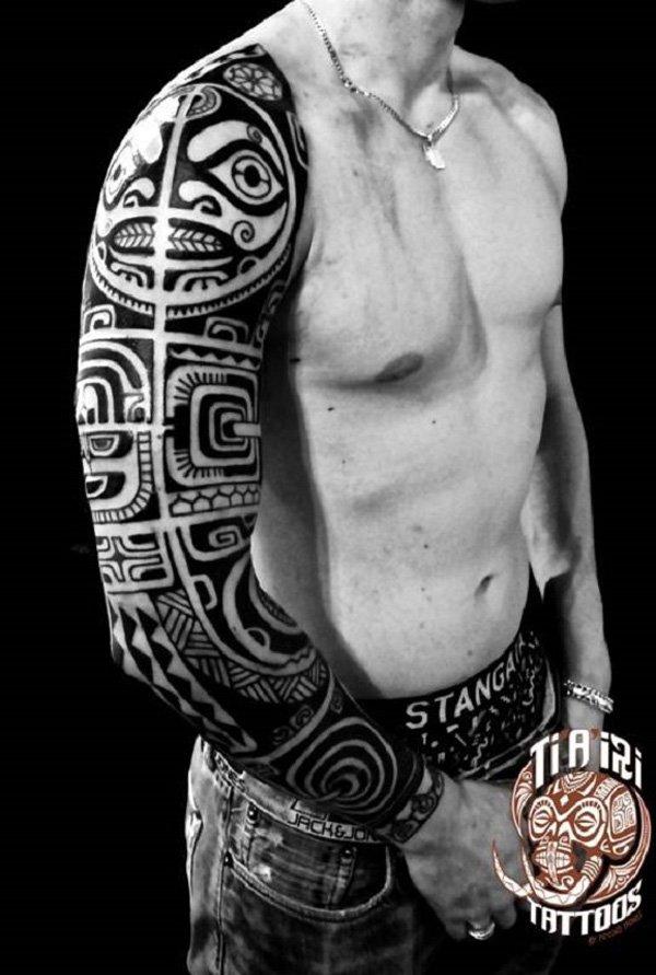 tatuajes maories en el brazo polinesios tattoo 2 - tatuajes maories