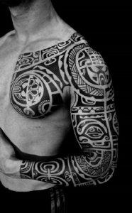 tatuajes maories en el brazo polinesios tattoo 3 186x300