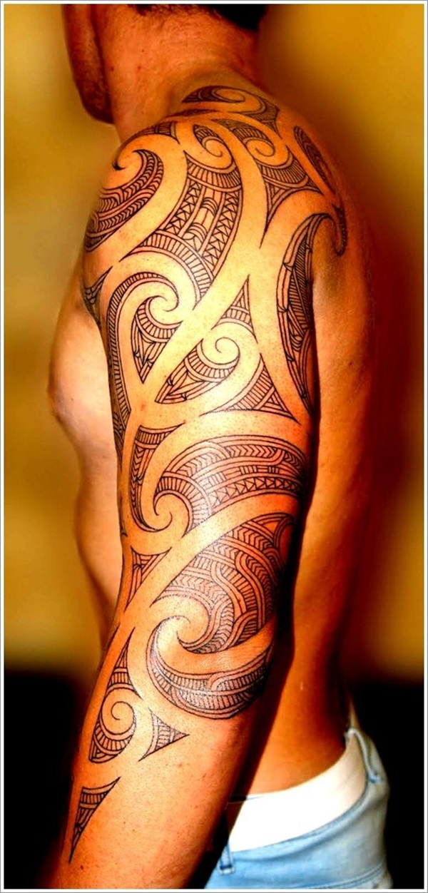 tatuajes maories en el brazo polinesios tattoo 7 - maories