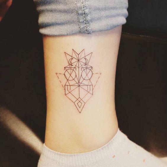 tatuajes pequeños buhos 1 - tatuajes de búhos