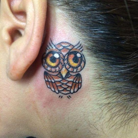 tatuajes pequeños buhos 2 - tatuajes de búhos