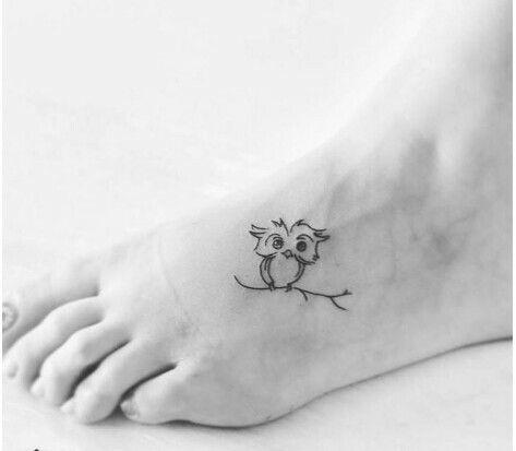 tatuajes pequeños buhos 3 - tatuajes de búhos