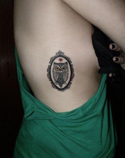 tatuajes pequeños buhos 4 - tatuajes de búhos
