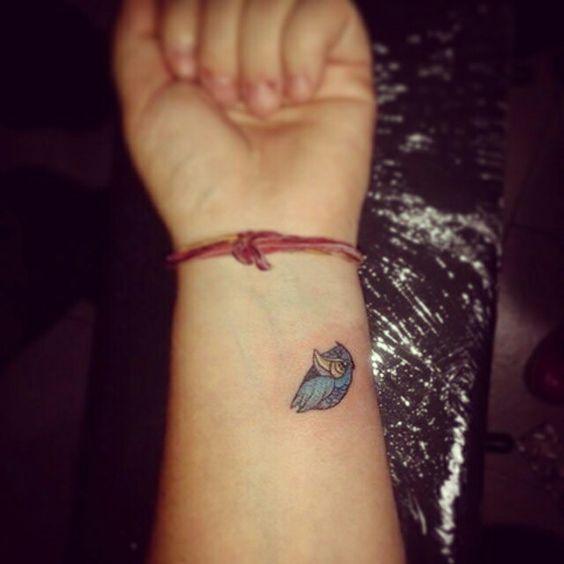 tatuajes pequeños buhos 6 - tatuajes de búhos