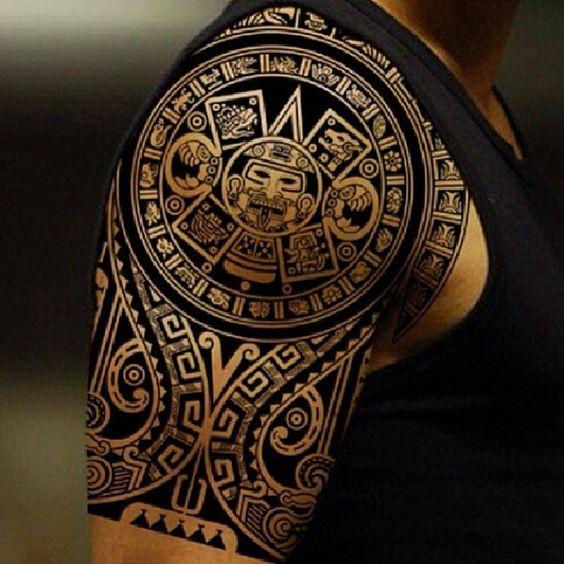 tatuajes sol azteca 3 - tatuajes del sol