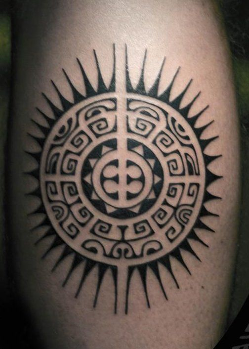 tatuajes sol maories 1 - tatuajes del sol