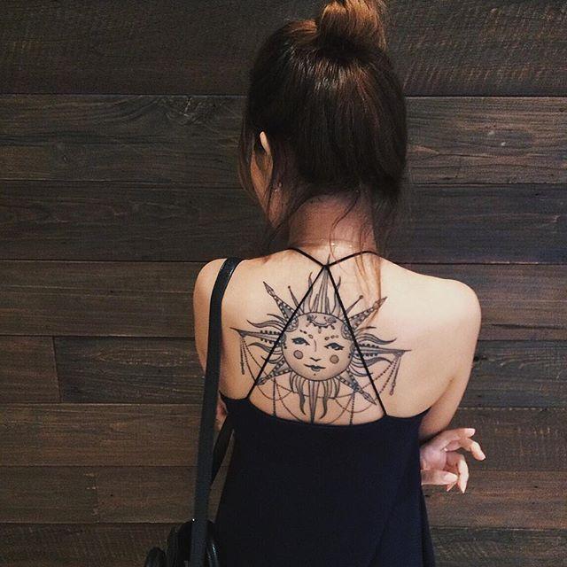 tatuajes sol para mujeres 7 - tatuajes del sol