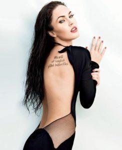 tatuajes de famosos Megan Fox 244x300