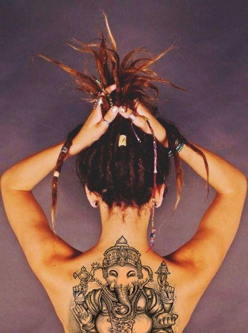 tatuajes de mujeres rastas 5 - Tatuagens Feminina