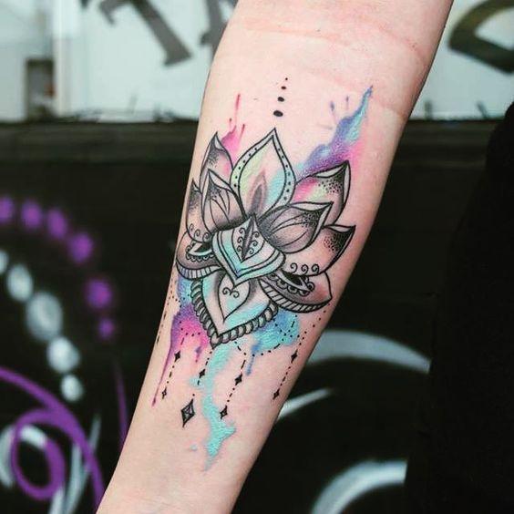 tatuajes mandalas acuarela 1 - tatuajes de mándalas