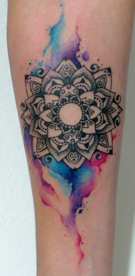 tatuajes mandalas acuarela 2 - tatuajes de mándalas