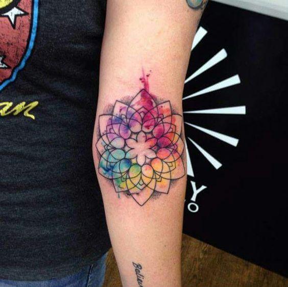 tatuajes mandalas acuarela 5 - tatuajes de mándalas