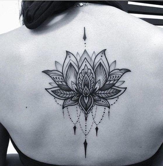 tatuajes mandalas flor loto 5 - tatuajes de mándalas