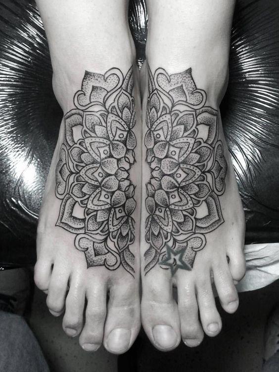 tatuajes mandalas pie 6 - tatuajes de mándalas