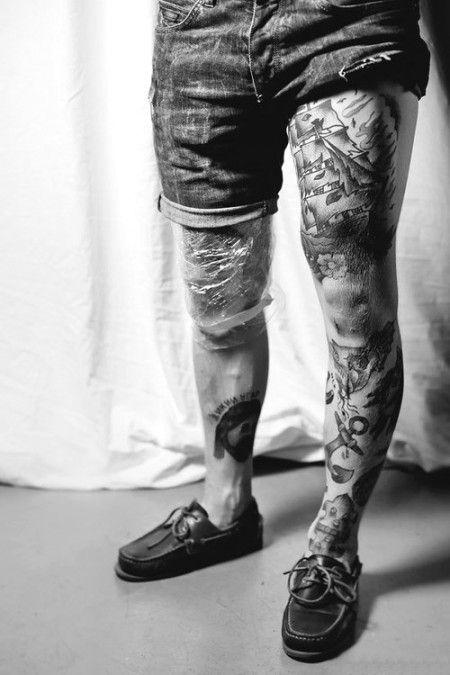 tatuajes para hombres en los muslos 2