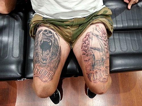 tatuajes para hombres en los muslos 5