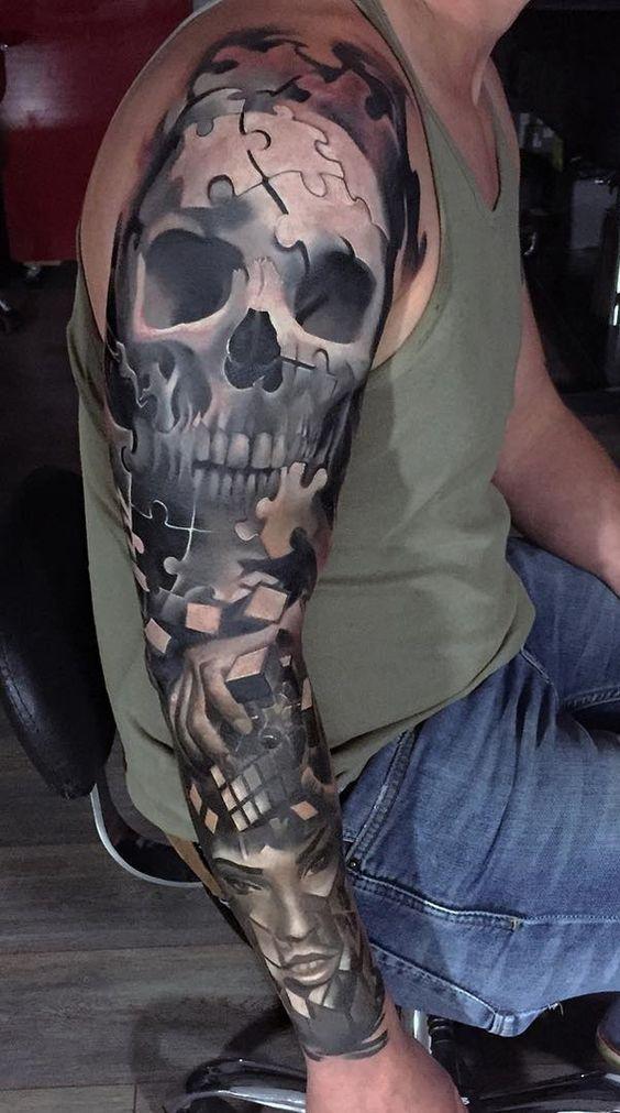 tatuajes para hombres mangas completas 1