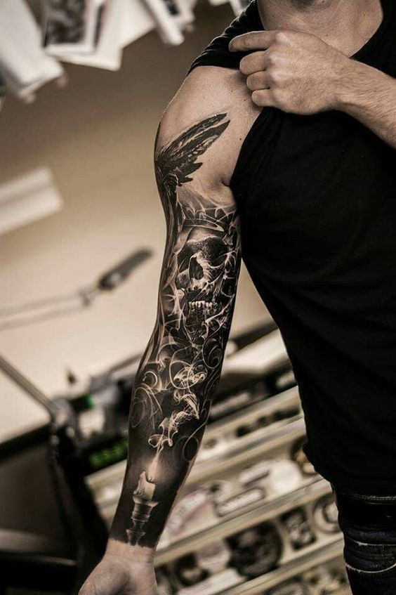tatuajes para hombres mangas completas 2