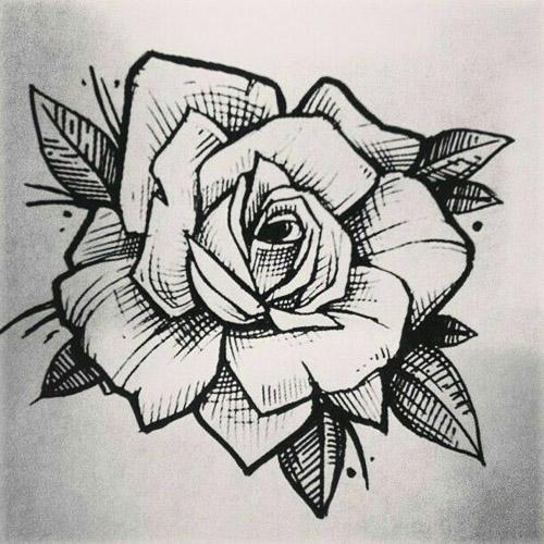 diseños plantillas bocetos tatuajes de rosas 1 - tatuajes de rosas