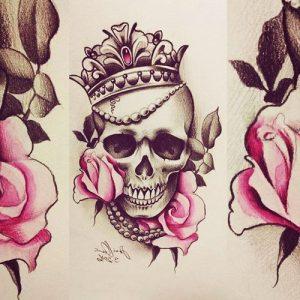 diseños plantillas bocetos tatuajes de rosas 4 300x300