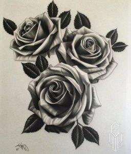 diseños plantillas bocetos tatuajes de rosas 5 256x300
