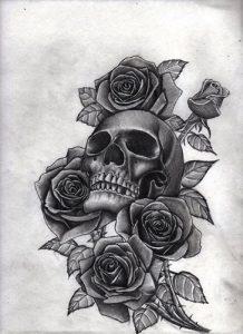 diseños plantillas bocetos tatuajes de rosas 6 218x300