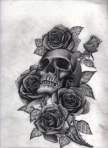diseños plantillas bocetos tatuajes de rosas 6 - tatuajes de rosas