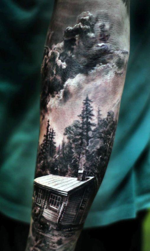 tatuajes 3D hombres 3