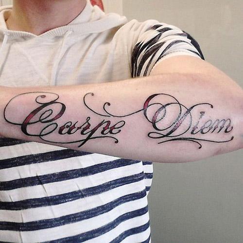 tatuajes carpe diem hombres 3