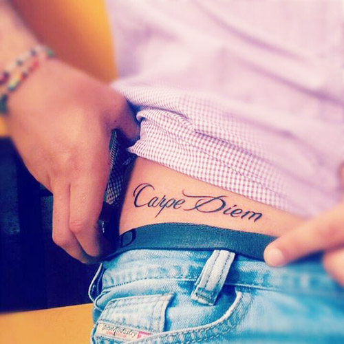24 Carpe Diem tattoos that inspire. Meanings