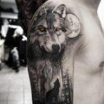 tatuajes de lobos aullando 1 150x150