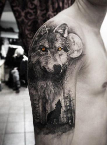 Los 50 mejores tatuajes de lobos y sus significados for Calavera lobo