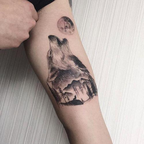 tatuajes de lobos aullando 3 - tatuajes de lobos