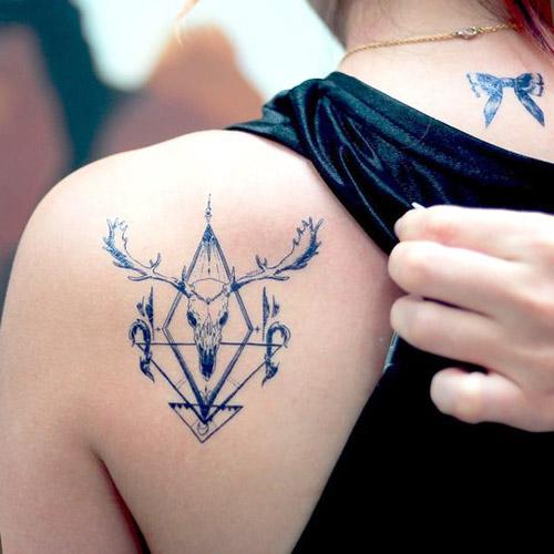 tatuajes hipster de venado 1 - tatuajes hipster