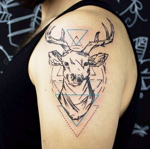 tatuajes hipster de venado 5 - tatuajes hipster